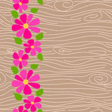 Wood texture vector seamless pattern. Royalty Free Stock Photo