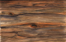 Wood texture. Watercolor  artistic realistic illustration for design, background, textile. Royalty Free Stock Photography