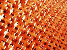 Wood texture. Pavilion facade in Milan Expo 2015 royalty free stock images