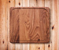 Wood texture. Wooden kitchen cutting board close up. Royalty Free Stock Photo