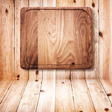 Wood texture. Wooden kitchen cutting board close up. Royalty Free Stock Photography