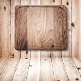 Wood texture. Wooden kitchen cutting board close up. Royalty Free Stock Image