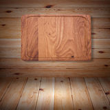 Wood texture. Wooden kitchen cutting board close Royalty Free Stock Photography