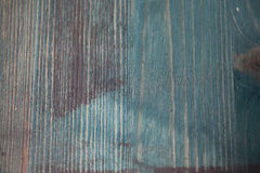 Wood texture. Texture wooden table painted in blue Stock Photography