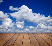 Wood textured. Backgrounds in a room interior on the sky backgrounds Royalty Free Stock Image