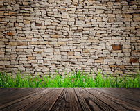 Wood textured. Backgrounds in a room interior on the grass backgrounds Stock Images