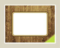 Wood textured frame Royalty Free Stock Images