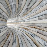 Wood textured tunnel Royalty Free Stock Image