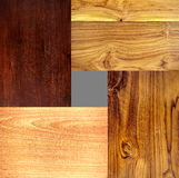 Wood textures. Four types of wood texture image composition (4 full frame images Royalty Free Stock Image