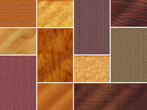 Wood Textures. Various wood textures from oak to exotic stock illustration