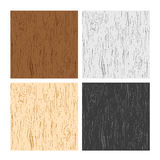 Wood textures. Four types of wood textures, or pattern illustration Stock Photo