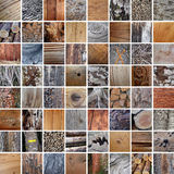 Wood textures patchwork Stock Photography