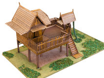 Wood Thai house model Stock Images