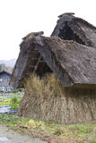 Wood thatched straw hut Stock Photos