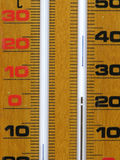 Wood thermometer detail Royalty Free Stock Photography