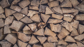 Wooden logs fullframe photo. Background for your PC or mobile phone Stock Image