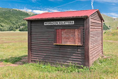 Wood ticket office Stock Image