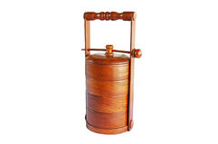 Wood tiffin isolated Royalty Free Stock Photography
