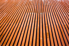 Wood Tile. Converging into Distance Stock Photography