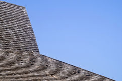 Wood tile roof Royalty Free Stock Images
