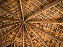 Wood tile roof Stock Image