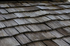 Wood tile work roof Royalty Free Stock Photo