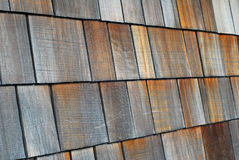 Wood tiled roof shingles Royalty Free Stock Photography