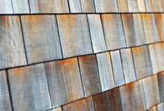Wood tiled roof shingles Stock Image