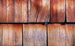 Wood tiled roof shingles Stock Photo