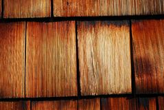 Wood tiled roof shingles Royalty Free Stock Images