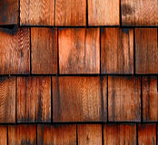 Wood tiled roof shingles Royalty Free Stock Photo