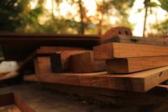 Wood tillverka tabell Royaltyfri Bild
