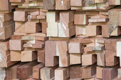 Wood timber construction material. Of every thing Royalty Free Stock Photos
