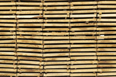 Wood timber construction material background and texture. Stack Stock Photo