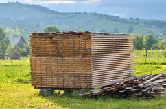 Wood timber pile Royalty Free Stock Image