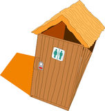 Wood toilet Royalty Free Stock Image