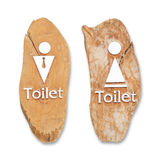 Wood Toilet sign Royalty Free Stock Images