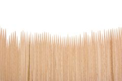 Wood toothpicks background Stock Photos
