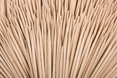 Wood Toothpicks Isolated On A White Background. Royalty Free Stock Image