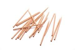 Wood toothpicks isolated on white background. Royalty Free Stock Image