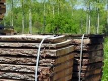 Wood torka för plankor Arkivbild