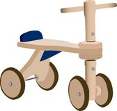Wood toy bicycle Royalty Free Stock Image