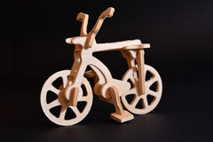 Wood toy bicycle Royalty Free Stock Photo