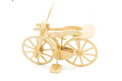 wood toy bicycle Royalty Free Stock Images