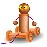 Wood toy buggy Stock Photos