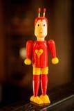 Wood toy called el chapulin colorado Royalty Free Stock Image