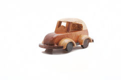 Wood Toy Car. Hand made wood toy car Royalty Free Stock Image