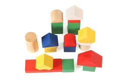 Wood toy city Stock Images
