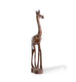 Wood toy giraffe isolated Stock Images
