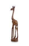 Wood toy giraffe isolated Stock Photography